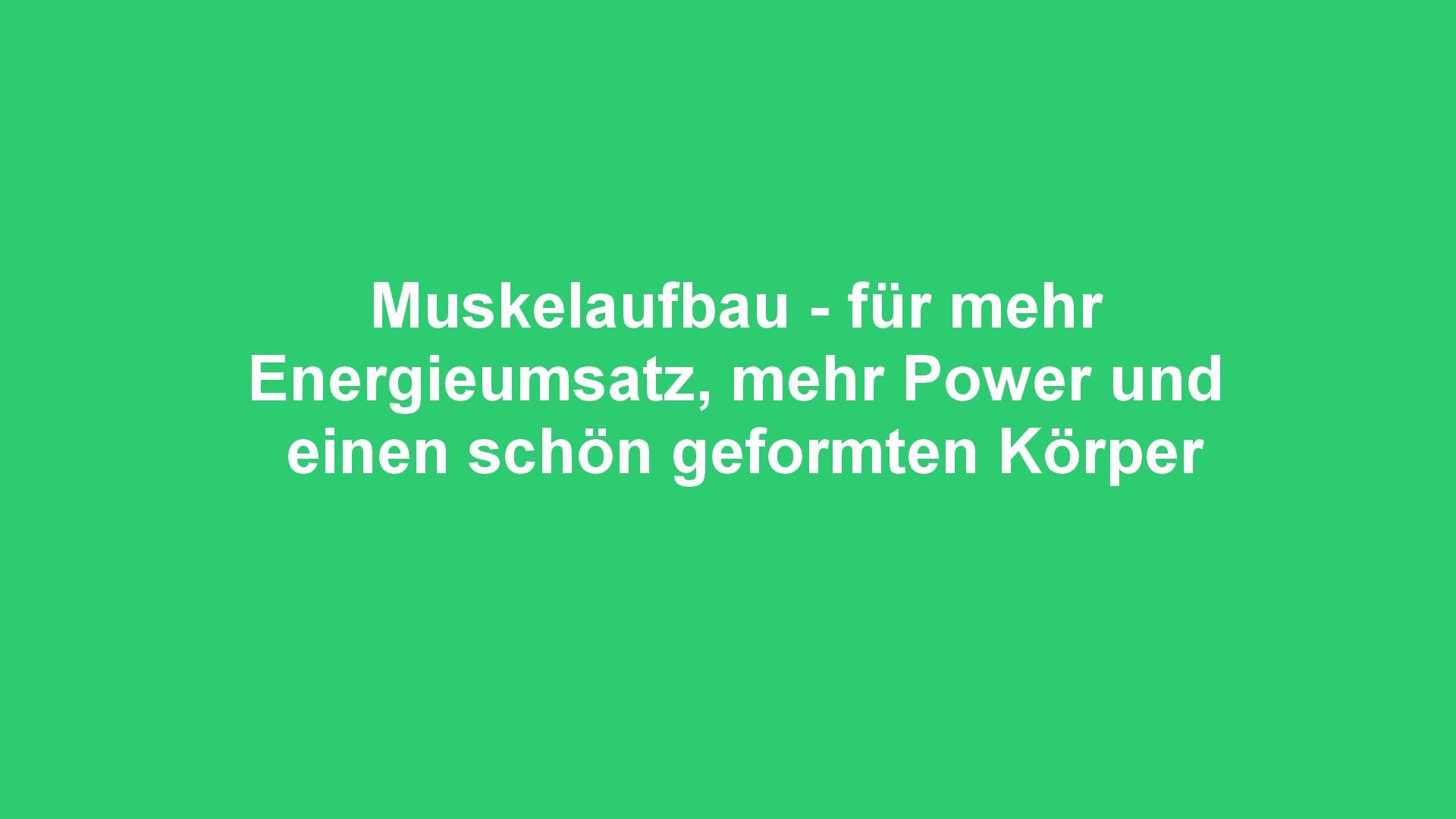 My Personaltraining Berlin -Muskelaufbau